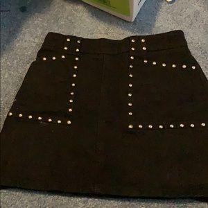 bdg black studded mini skirt